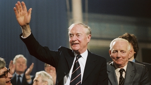 Liam Cosgrave at the Fine Gael Ard Fheis in 1981