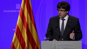 Catalan's pro-independence leader Carles Puigdemont will address the regional assembly on Tuesday
