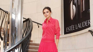 Fashion designer Victoria Beckham was in Dublin to launch her new makeup range yesterday afternoon