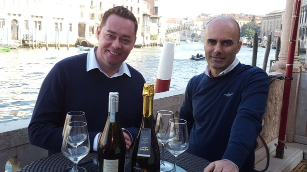 Neven Maguire with Prosecco producer Paolo Sacchetto