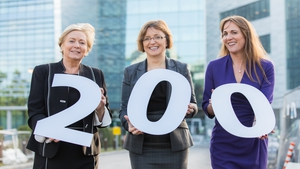 Minister Frances Fitzgerald, Microsoft Ireland's MD Cathriona Hallahan and Lisa Dillon, MD of EMEA Inside Sales