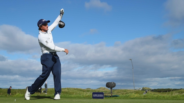 Paul Dunne in action at St Andrews