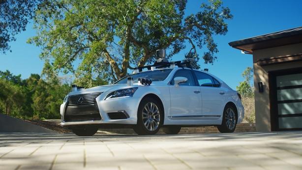 The camera-laden Lexus that drives itself.