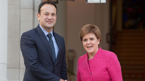 Taoiseach Leo Varadkar met with Scottish First Minister Nicola Sturgeon at Government Buildings