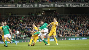 Daryl Murphy fires home the opener for Ireland