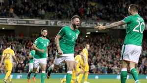 Daryl Murphy got his two goals inside the first 20 minutes