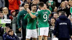 Sean Maguire comes on to replace Shane Long
