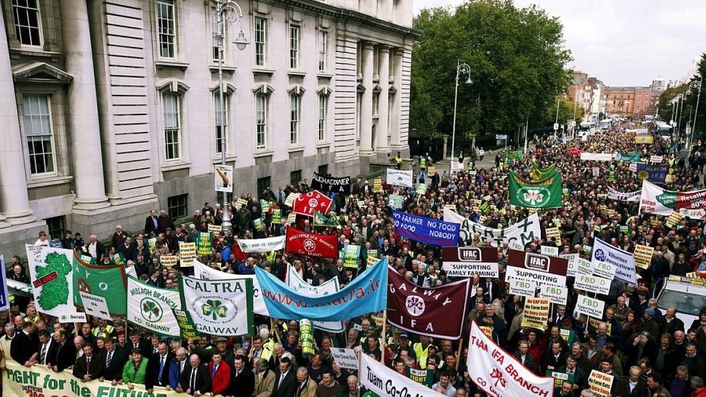 Luke Ming Flanagan, Brexit, EU & IFA Protest