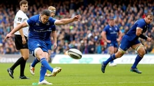 Johnny Sexton kicks point number 1231 for Leinster