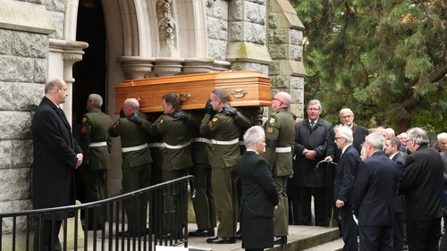 Liam Cosgrave's requiemmass took place at the Church of the Annunciation in Rathfarnham