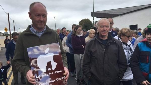 Today's march was organised by a campaign group calling itself 'Apple for Athenry'