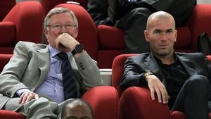 Alex Ferguson and Zinedine Zidane.
