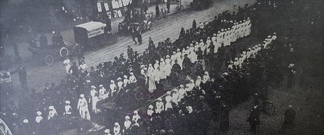 Ed111 Century Ireland Our day parade nurses Irish life