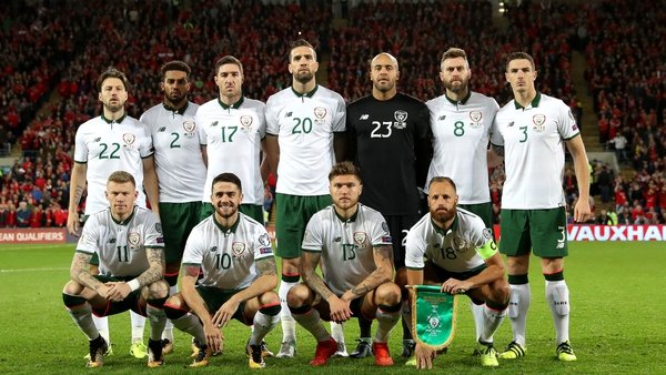 The Ireland team selected to play Wales