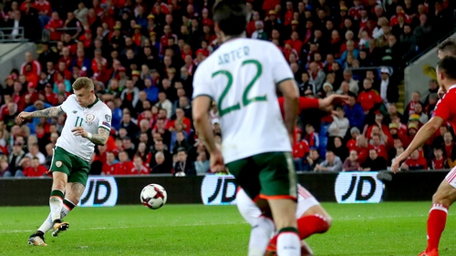 James McClean hits the winner for Ireland against Wales