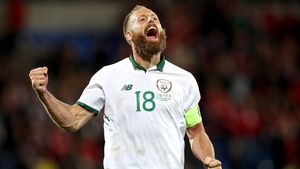 Ireland's David Meyler celebrates after the game