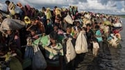 Rohingya Muslims fleeing Myanmar for Bangladesh