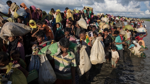 More than 600,000 Rohingya have fled to neighbouring Bangladesh