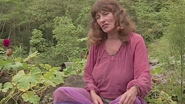 Jenny James, founder of the Atlantis community, in Declan Lynch and John Coffey's documentary Atlantis: 25 Years Of Solitude
