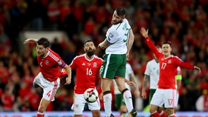 Daryl Murphy operated as a lone striker in Cardiff