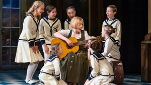 Lucy O'Byrne pictured in the middle of the Von Trapp family