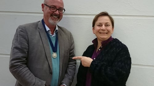 Children's Laureate PJ Lynch meets ongoing Laureate for Irish Fiction Anne Enright