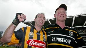DJ Carey alongside Brian Cody after the 2002 All-Ireland final