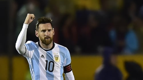Leo Messi has scored 64 goals in 124 games for Argentina