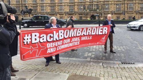 Bombardier workers are pressing for British government action to help secure their jobs