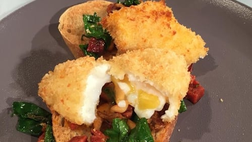 Bryan's Poached Egg & Chorizo on Sourdough: Today