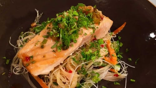 Mags' Salmon with sweet and sour sauce: Today