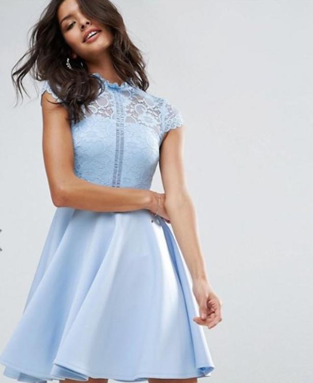 Asos high neck mini skater dress