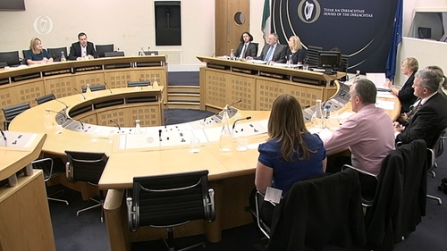 The Oireachtas Finance Committee hearing details from customers affected by the tracker mortgage issue