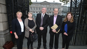 (L-R) Helen Grogan, Hazel Melbourne, Padraic Kssane, Thomas Ryan and Niamh Byrne addressed the Oireachtas Finance Committee