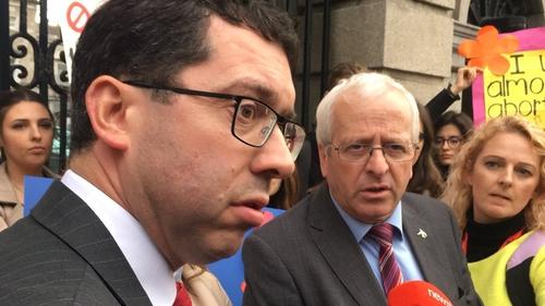 Mattie McGrath and Senator Rónán Mullen held a press conference later
