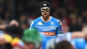 Ian McKinley is on the bench for Italy against his native side