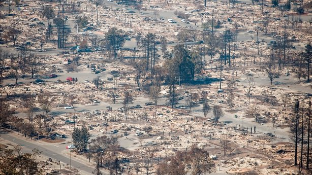 The devastation caused by the fire in Santa Rosa