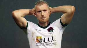 Cork's Stephen Dooley at the final whistle