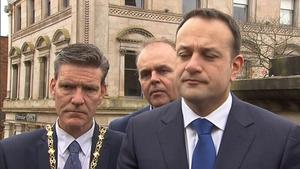 Taoiseach Leo Varadkar speaking in Derry