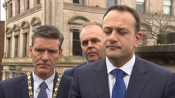 Taoiseach Leo Varadkar speaking in Derry