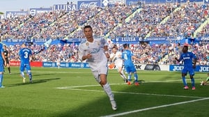 Ronaldo scored the winner as Real Madrid defeated Getafe 2-1