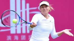 Maria Sharapova during the semi-finals of the Tianjin Open.