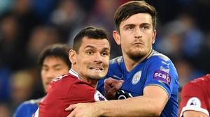 Dejan Lovren (L) is frustrated by Liverpool's profligacy