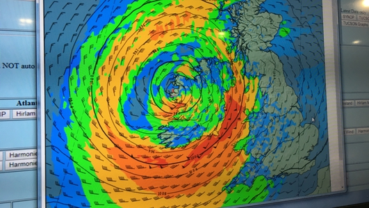 Hurricane Ophelia en route to Ireland