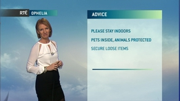 Ophelia: Mid Morning Weather Update