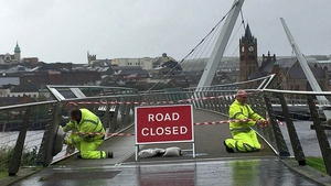The Peace Bridge is closed in Derry
