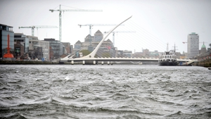 Choppy waters on the River Liffey in Dublin