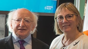 President Michael D Higgins and Julie Sinnamon, Enterprise Ireland CEO