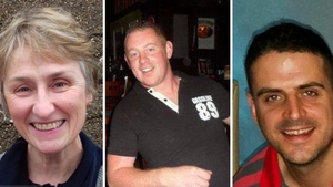 Clare O'Neill and Michael Pyke died in separate incidents while Fintan Goss (R) has been named locally as the third victim