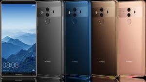 The Mate 10 Pro comes in three colours - Midnight Blue, Titanium Grey and Mocha Brown
